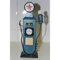 Miniatura Metal Bomba Gasolina Antiga Cofre Gas Station