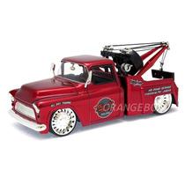Chevy Stepside Tow Truck 1955 1:24 Jada Toys 96401-vermelho