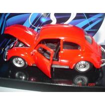 Miniatura Metal Maisto Volkswagen Fusca 1:24-nova-lacrada