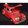 Mini Metal Rústico Retro Fusca Volkswagen Vintage Abre Capo