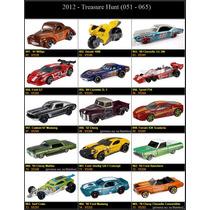 Lote 15 Treasure Hunt Hot Wheels Coleção Th 2012 Hw Completa