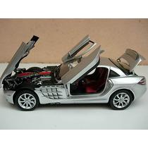Miniatura Mercedes Benz Slr Mclaren Prata Cmc 1/18