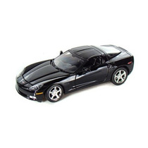 Miniatura Chevrolet Corvette C6 2005 Preto 1:24 Motormax
