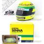 1/2 Miniatura Capacete Bell Ayrton Senna Lotus F1 1985
