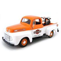 Ford F1 Pickup 1948 1:24+ H.davidson 1948 32171-bran-laranja