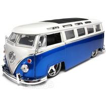 Volkswagen Kombi 1962 Azul 1:24 Jada