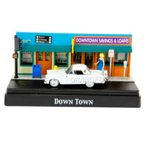 Diorama Down Townford Thunderbird 1956 Motormax 1:64 73648