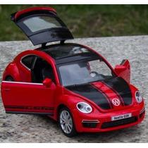 Automodelo Miniatura Réplica Volkswagen Beetle Gsr Luz E Som