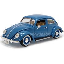 Volkswagen Fusca 1955 1:18 Bburago 12029-azul