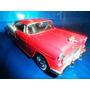 Chevy Bel Air Escala 1:24 Vermelho Com Branco