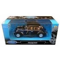 Carrinho Welly Volkswagen Beetle - Fusca - Escala 1:24