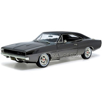 Dodge Charger R/t 1968 Mcqueen Greenlight 1:18 Cromado 12847