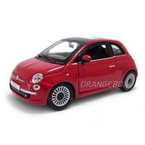 Fiat 500 Bburago 1:24 21032-vermelho