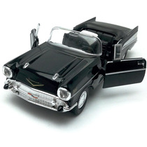 Welly 1:34 - 57 Chevrolet Bel Air Convertible - Preto