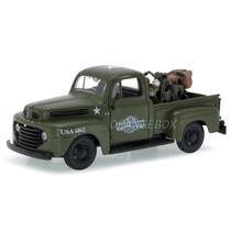 Ford 1948 1:25 + Harley Davidson Flathead 1942 32185-verde