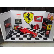 Diorama Garagem Oficina Ferrari F1 Fórmula 1 Frete Grátis