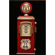 Miniatura Bomba Gasolina Vintage Porta Chaves Madeira Rústic