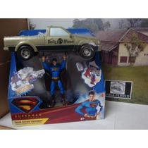 Boneco E Carro Super Man Mattel - De 2006 Raro E Importado