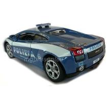 Lamborghini Gallardo Polizia Burago 1:24 18cm Nova
