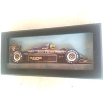 Ayrton Senna Lotus 97t Preta Quadro 3 D Madeira Vidro