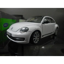 Miniatura Vw New Beetle 2013 Branco 1:24 Welly