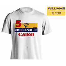 Camiseta Williams Formula 1 1992 Nigel Mansell E R. Patrese