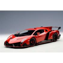 Lamborghini Veneno Autoart Signature 1:18 Vermelho 74508