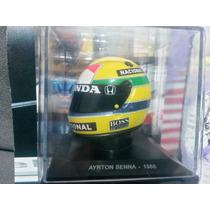 Miniatura Capacete F1 1/5 Ayrton Senna 1988 Formula 1