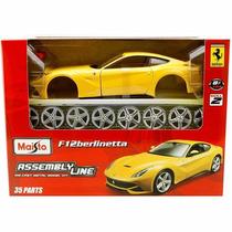 Kit Montar Ferrari F12 Berlinetta 1:24 Maisto 39121-amarelo