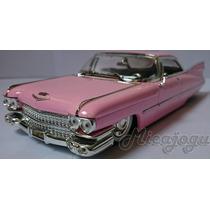 Cadillac Deville 1959 1/24 Jada Rosa Lindo Antigo Lançamento