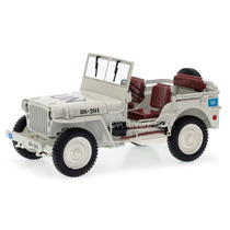 Jeep Willys 1/4 Wwii Army Truck Un 1:18 Welly Branco 18036un