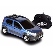 Carro De Controle Remoto Fiat Novo Uno Azul 1:18 Cks Toys