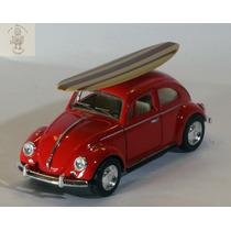 Miniatura Volkswagen Fusca Surf Vermelho 1/32