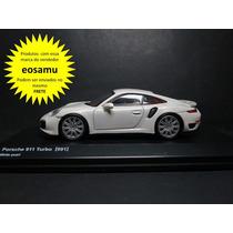 Porsche 911 Turbo (991) Branco Kyosho Original 1/64 Premium