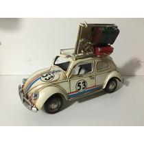 Miniatura Metal Volkswagen Fusca Bageiro Porta Retrato Cofre