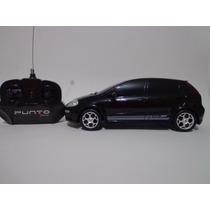 Carro Controle Remoto Fiat Punto T Jet Preto 1/18 Cks