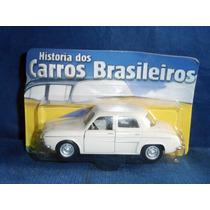 Carrinho Coleção História Carros Brasileiros Willys Dauphine