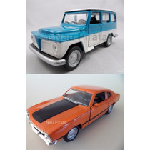 Kit Carro Nacional Ford Maverick Gt 1974 + Ford Rural 1972