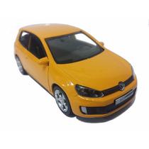 Carrinho Golf Gti Amarelo Miniatura 1/32 - Ferro Volkswagen