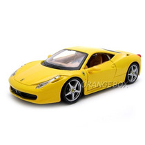 Kit P/ Montar Ferrari 458 Italia 1:24 Maisto 39113-amarelo