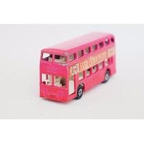 Matchbox Lesney Daimler Ônibus Pink Superfast Transicional