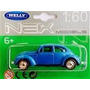 Miniatura Vw Fusca Escala 1:60 Welly - Novo / Lacrado !!!