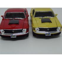 Ford Mustang Boss 429 1970 Escala 1/24 Azul E Amarelo