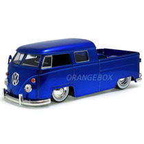 Volkswagen Kombi Bus Pick Up 1963 1:24 Jada Toys 91250-azul