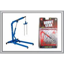 Guindaste Articulado 1:24 E 1:18 Para Dioramas Hobby Gear