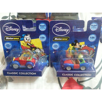 Lote 2 Minis Tipo Hot Wheels Disney Michey E Donald Lacradas