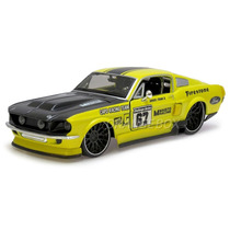 Ford Mustang Gt 1967 1:24 Maisto 31094-racing-amarelo