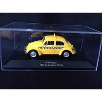 Mini Volkswagen Fusca 1985 Taxi Rio De Janeiro 1:43 Novo!