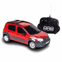 Carro Controle Remoto Fiat Novo Uno 1:18 Cks Toys