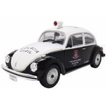 Coleção Veículos Serviço 19 Vw Fusca Polícia Civil
